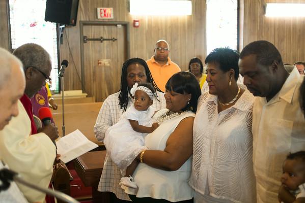 Christening of Amarilynne Brown
